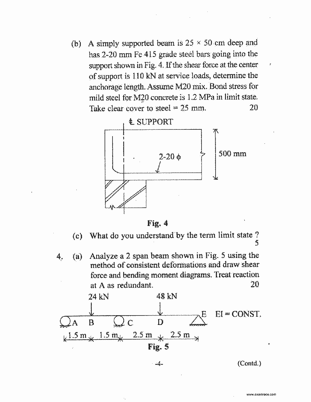Ies Conventional Civil Engineering 2016 Translation In Hindi Draw The Shear Force And Bending Moment Diagrams Of Beamshown Page 4