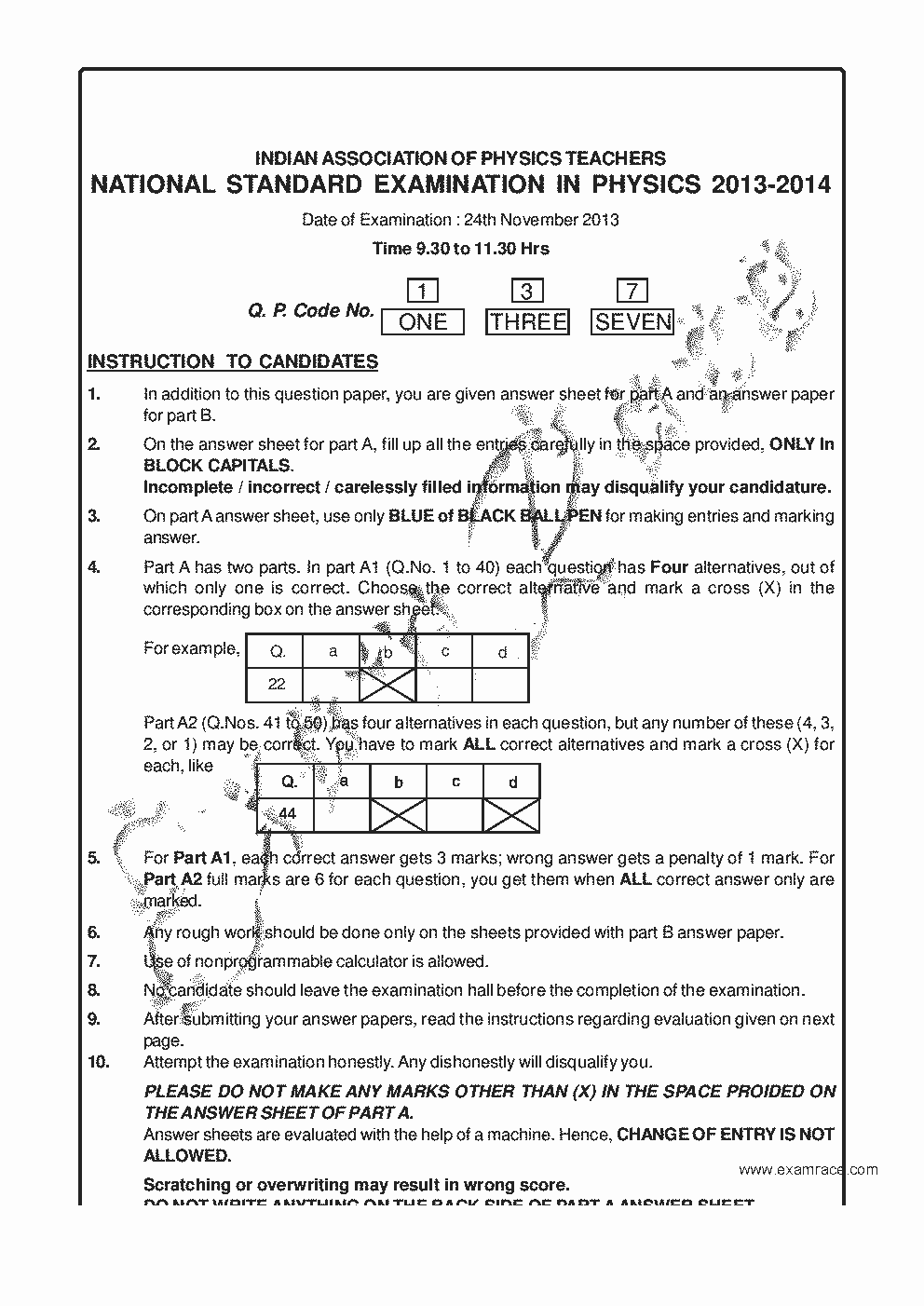 Nsep solved paper 2013 translation in hindi kannada malayalam nsep solved paper 2013 page 1 fandeluxe Choice Image