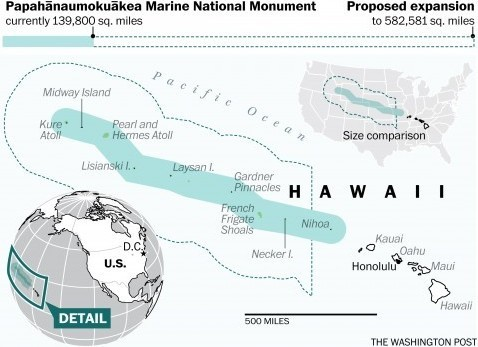 Image of protected marine area off Hawaii