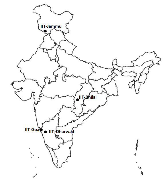 IIT Location On India Map