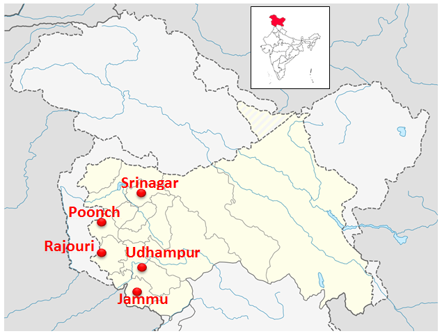 Location of J&K youth in sporting activities