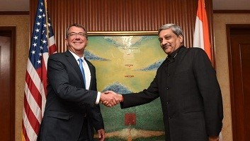 Minister Manohar Parrikar and Ashton Carter