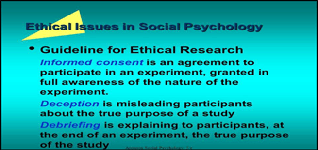 Social psychology research