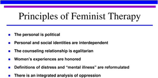 Principles of feminist therapy