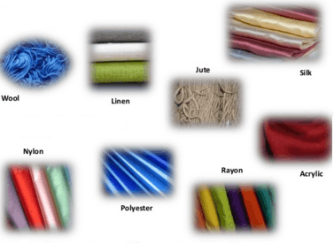 Image shows different kind of fibers
