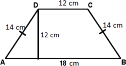 A trapezoid made by different length lines