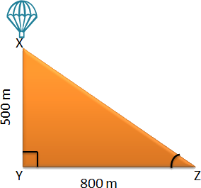 A parachute is at some height from ground