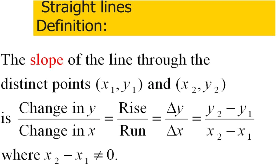 Define Stright lines