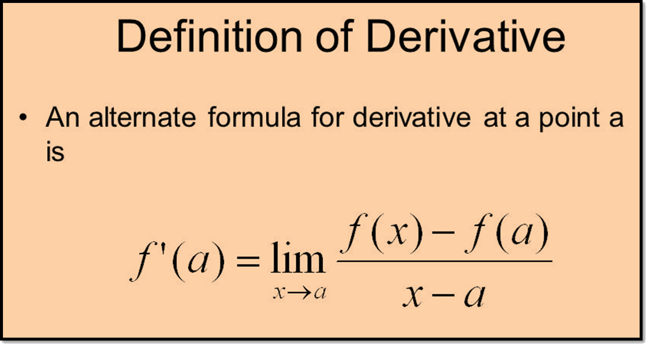 In image relation of derivation and limit is shown.