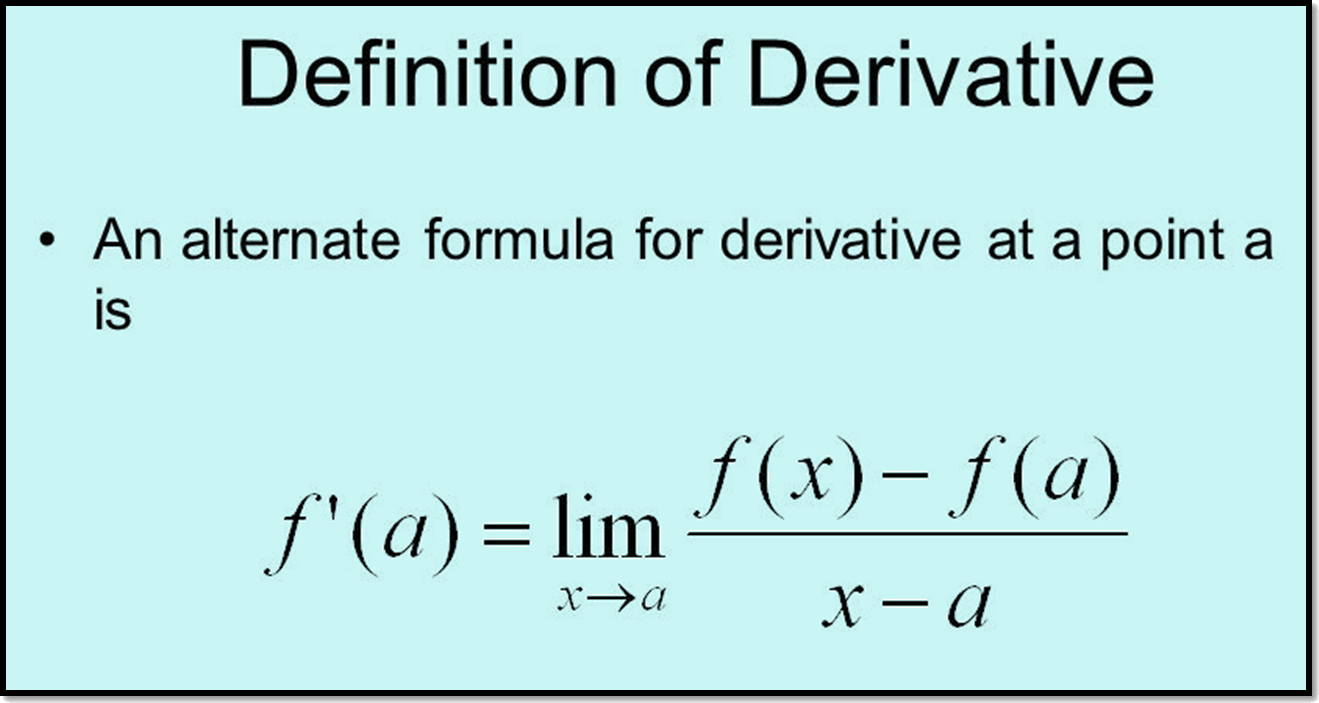 In image derivative definition is shown.