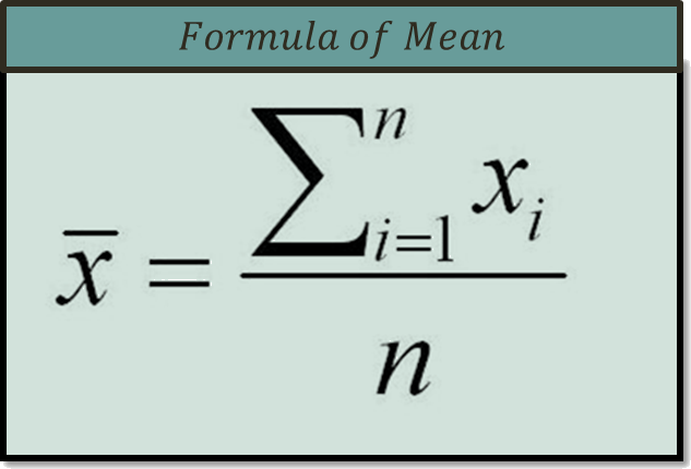 In figure formula of means is shown.