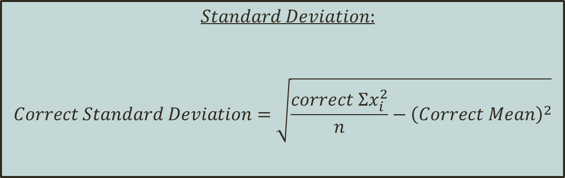 In figure formula of standerd Deviation is shown.