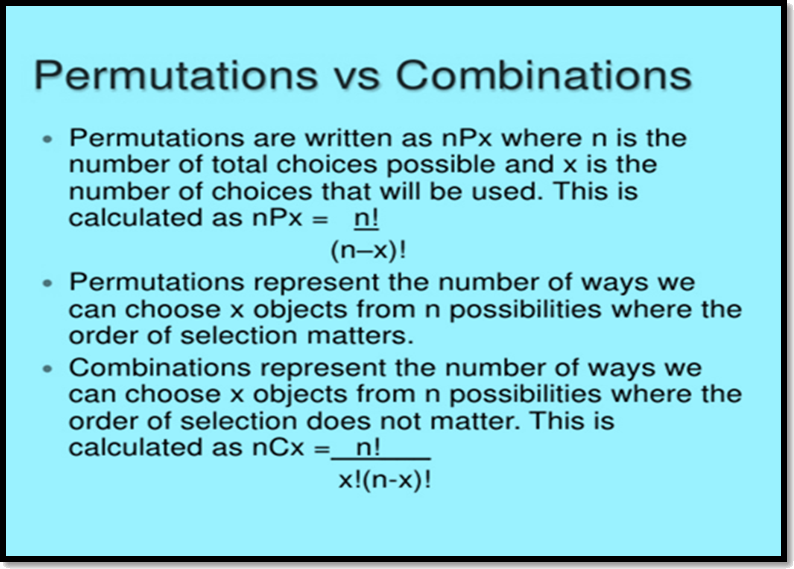 Permutations vs Combinations