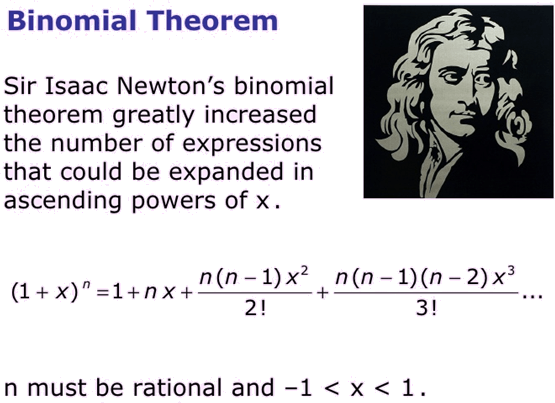 Understanding of Binomial Theorem and equation