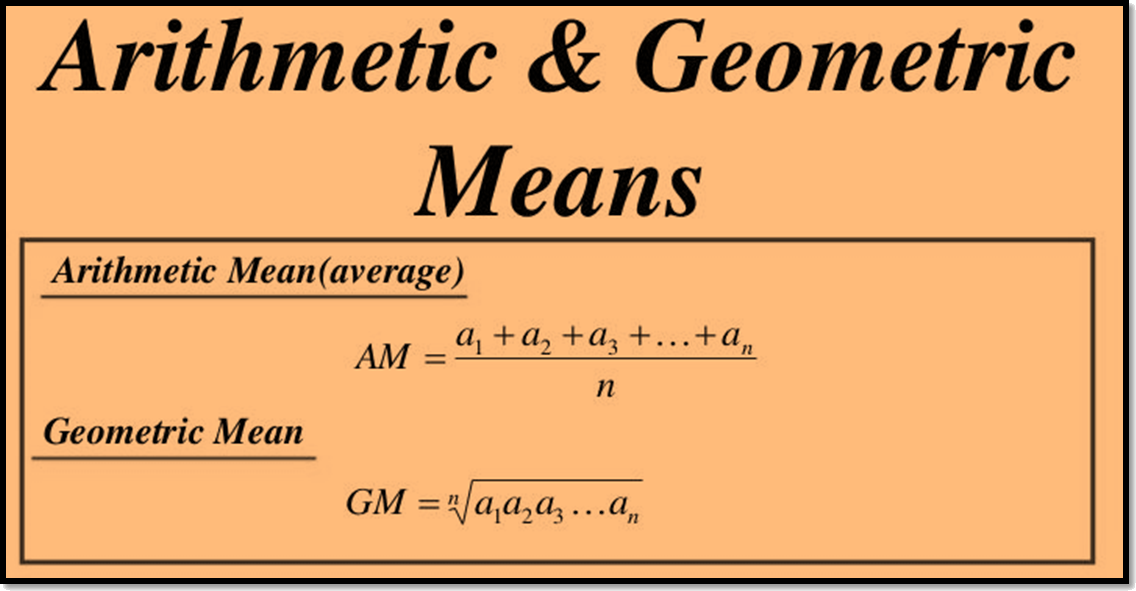 arithmatic and Geometric means