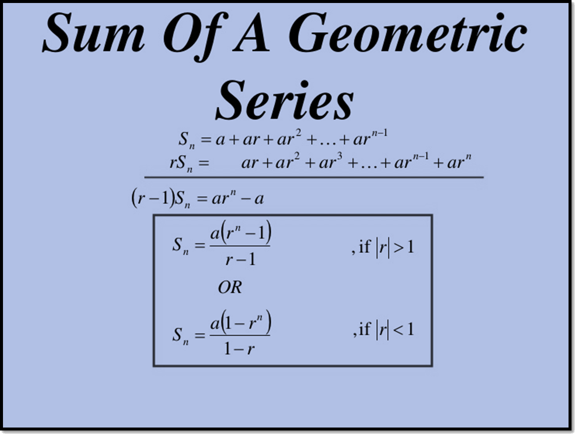 Sum of a Geometric Series