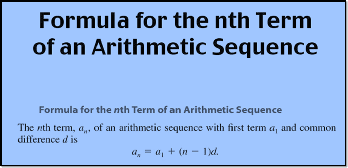 Formula for the nth term of an arithmetic sequence
