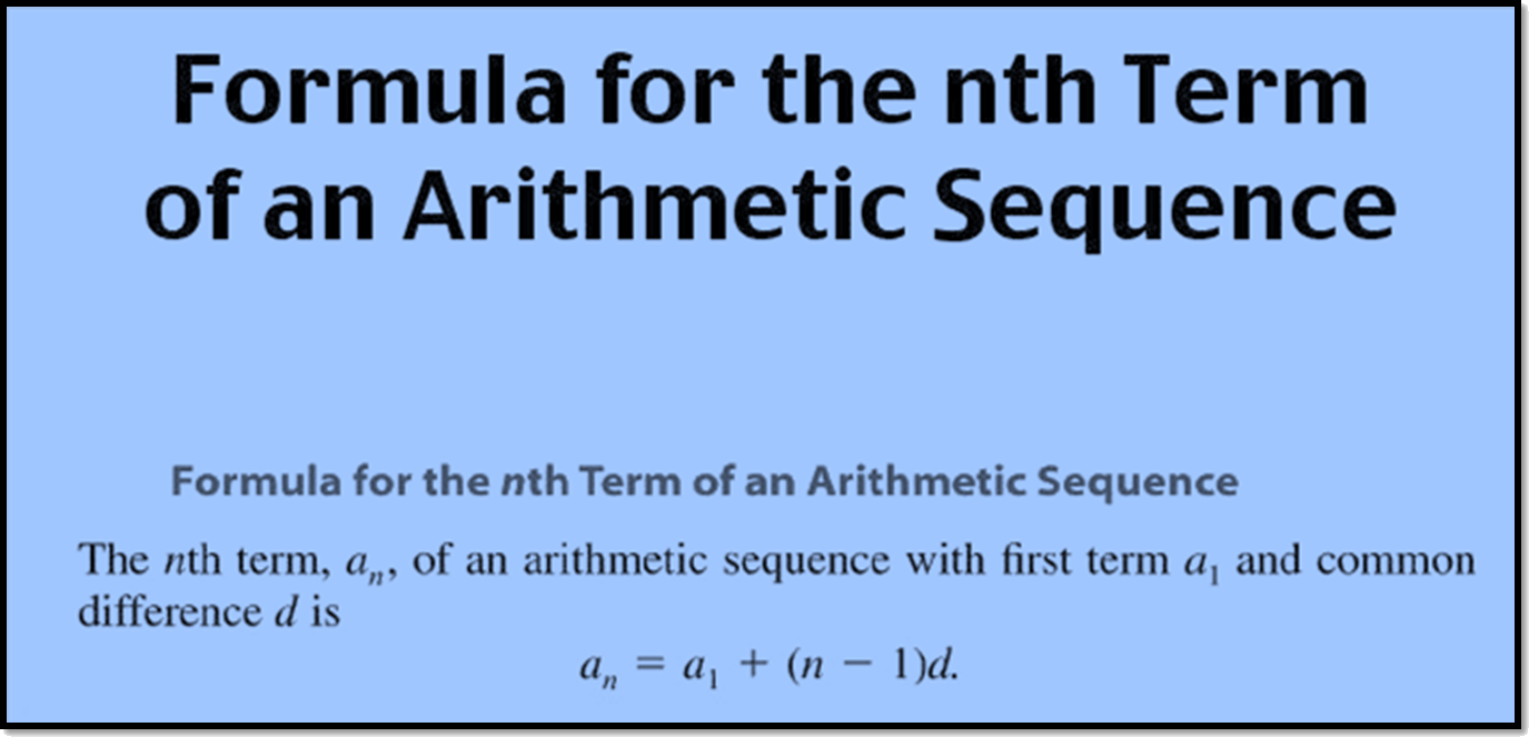 Formula of the nth term of an arithmetic sequence