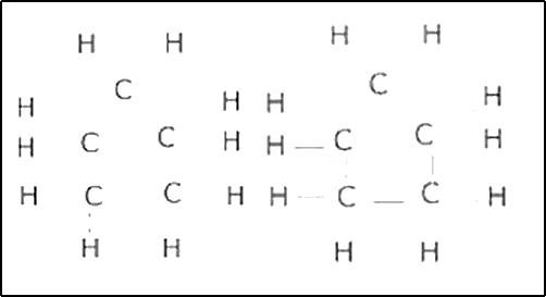Formula and electron dot structure of cyclopentane