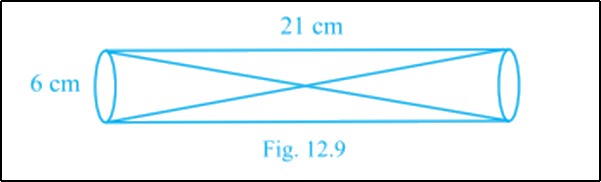 Two solid cones are placed in a cylindrical tube