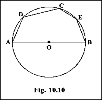 AOB is a diameter and ∠ADC = 120°, then ∠CAB = 30°