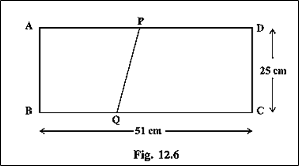 The dimensions of a rectangle ABCD are 51 cm × 25 cm