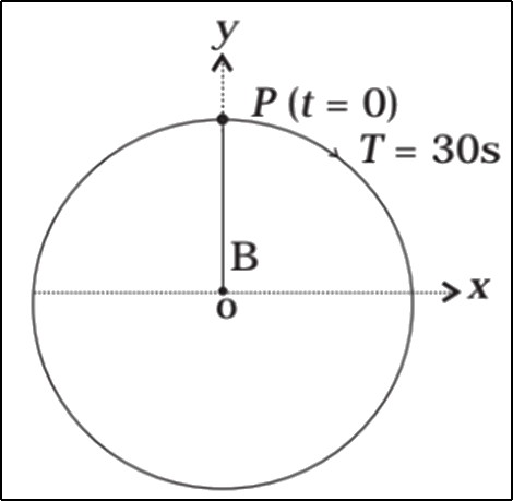 The circlar motion of a particle