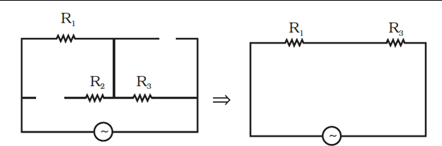 Equivalent circuit of the circuit shown in Figure,
