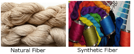 Image of all natural and synthetic fibers