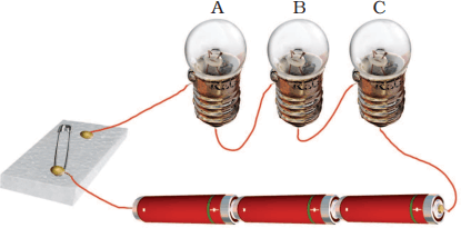 As showing in images is a three bulbs are connected in a circuit