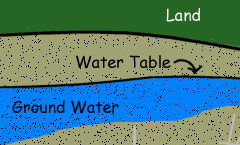 Image of what is water table