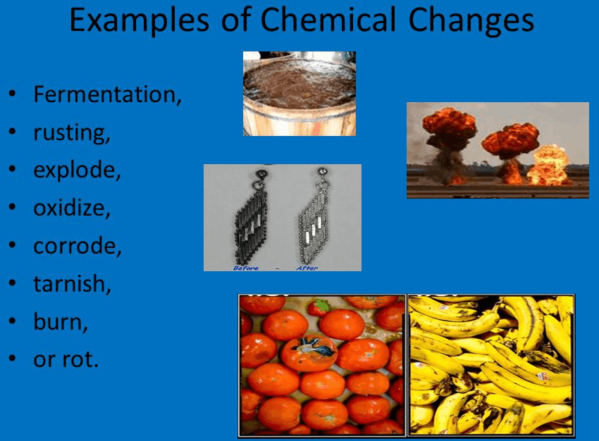 Image of example of chemical change