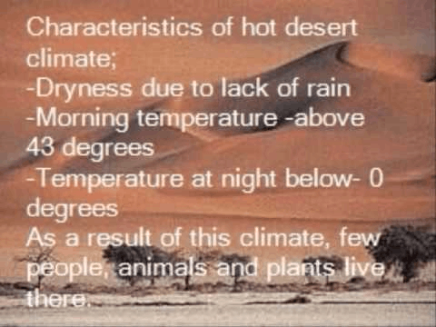 Image of hot desert climate