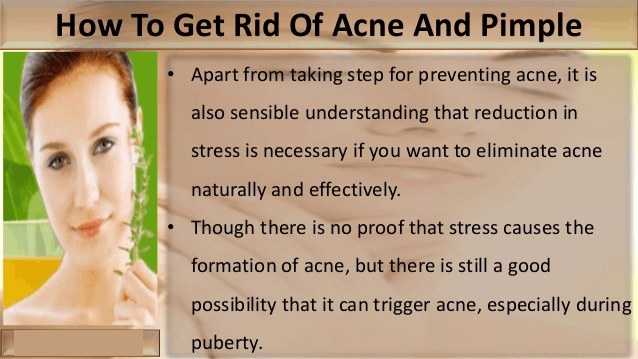 Image of how to get rid of acne and pimple
