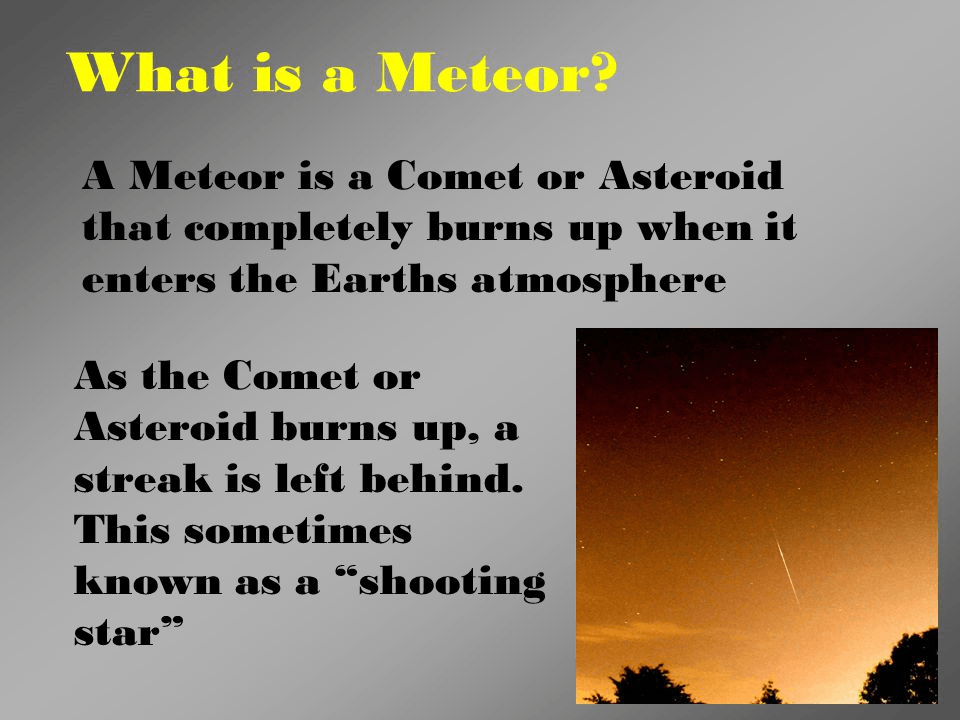 Image of what is meteors
