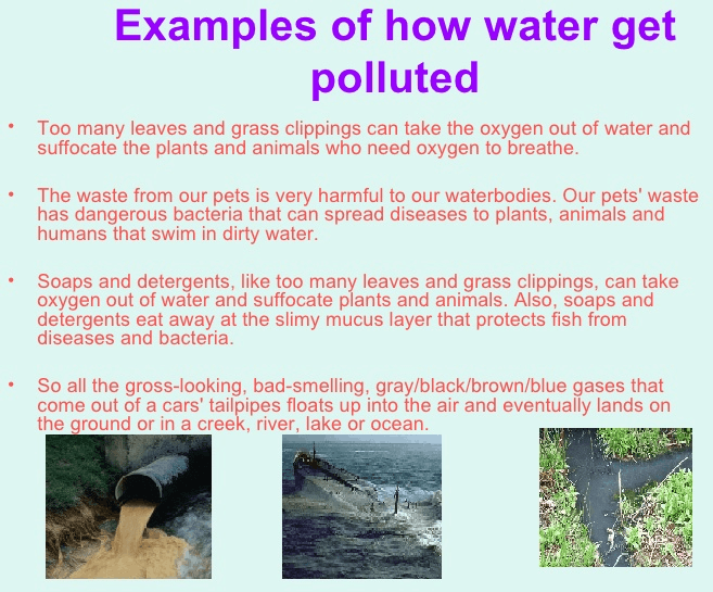 Image of water pollution