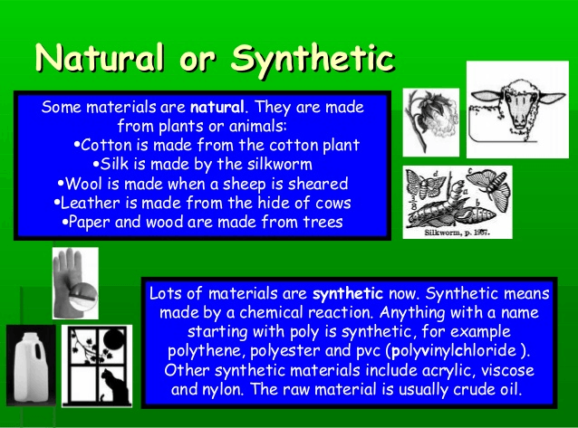 Image of natural and synthetic materials