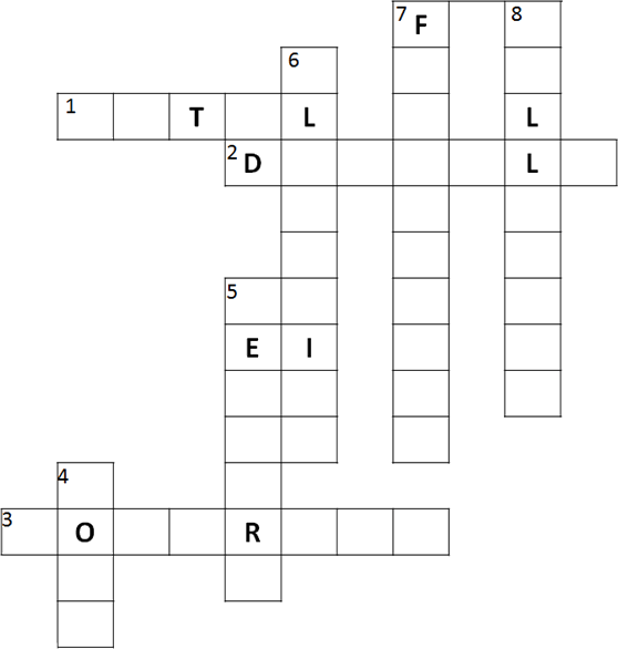 Result for Complete the crossword (Q)