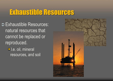 Image of Exhaustible resources
