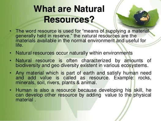 Image of what is natural resources