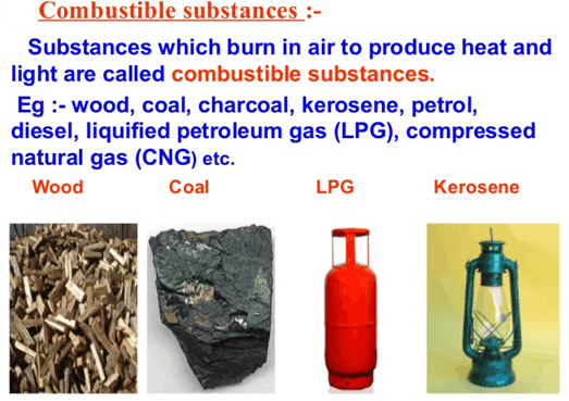 Image of combustible substance