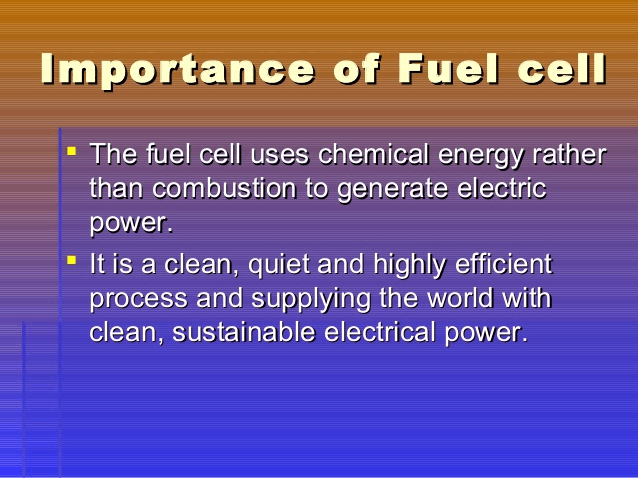 Image of importance of fuel cell