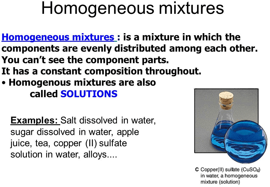Image of Homogeneous Mixtures