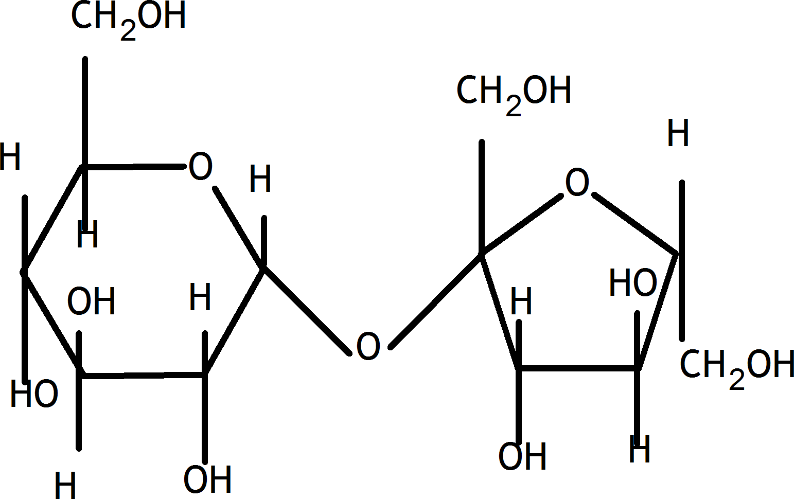 This structure is disaccharides sucrose example