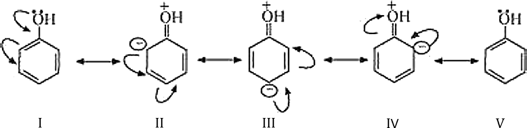 Q 11 A 1 Structure of Resonance for Phenol Represented