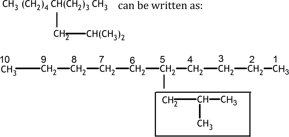 Q 2 Ans F Structure of IUPAC names of 5-(2-Methylpropyl) - d …
