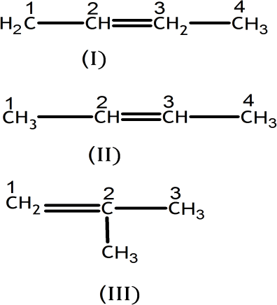 Q 3 A Structure of Isomers with One Double Bond