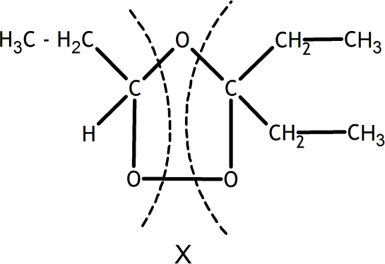 Q 7 Ans 2 Structure of Represented of Ozonide