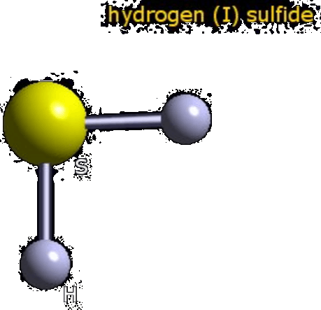 Structure of Hydrogen Sulphide