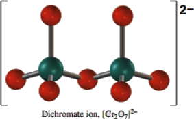 Q 5 ii Structure of Chromate and dichromate